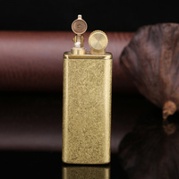 2019 ZORRO Brand Brass material fire lighter for cigarette matte vintage oil lighter