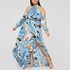 Fashionable Wholesale Sexy Ladies Multi Way Dresses Long Chic Bohemian Maxi Dress Plus Size Women Clothing