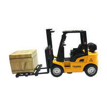 Miniature Scale Alloy Metal Construction Car Toy Diecast Forklift Truck Model