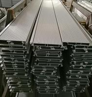 Low price sand matt silver anodized extruded aluminum deck flooring