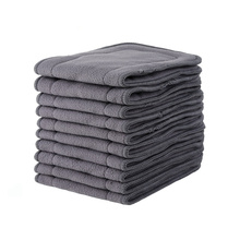 Bamboo Charcoal Liner Inserts For Baby Reusable Diaper Natural washable Cloth diaper Insert 5 layer