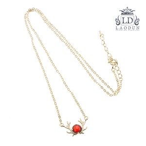 925 silver Necklaces for Women Antlers Diamond Pendants Memory Projection Simple Chain Jewelry