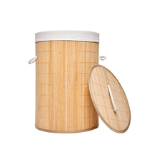 Bamboo <strong>furniture</strong> for sale pop up round laundry bin made of rattan bamboo