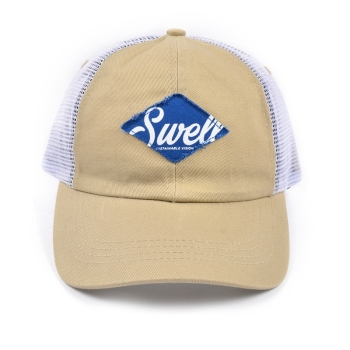 Custom funny summer 5 Panel Woven Label Trucker Cap Mesh Hat