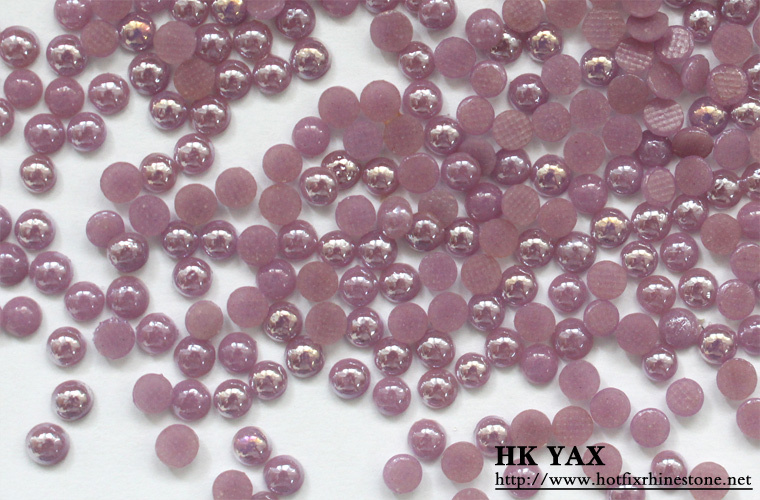 0617N High Quality Iron on Hot Fix Pearl Ceramic Stones for Garment