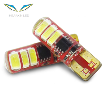Factory direct T10 canbus silicone lamp 5630 6smd 1.5W flashing led license plate light