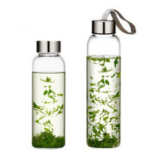 Borosilicate Glass Water Bottles Wholesale BPA Free Drinking Bottle With Logo 500ML 1000ML For <strong>Sports</strong>