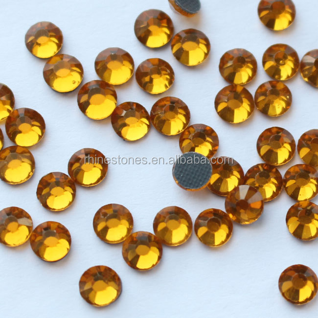 0619N Hot Sale Topaz Color SS20 5mm 10 gross Heat Transfer Hotfix DMC Strass Stones Rhinestones for Dress