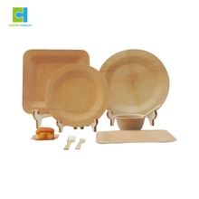 Compostable And Chemical Free Eco Friendly Wedding Disposable Bamboo Round <strong>Plates</strong> and Bowls