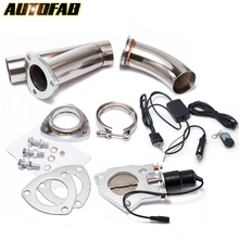 Electric Exhaust Catback/Downpipe Cutout/E-cut Out <strong>W</strong>/Switch ByPASS Valve Kit + Remote AF-CUT2YDS