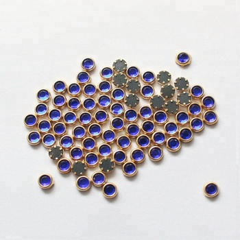 S0817 SS10/16/20 Hot fix Metal Rimmed Cobalt color Swainstone hotfix crystal stone rhinestone austria Strass for clothing