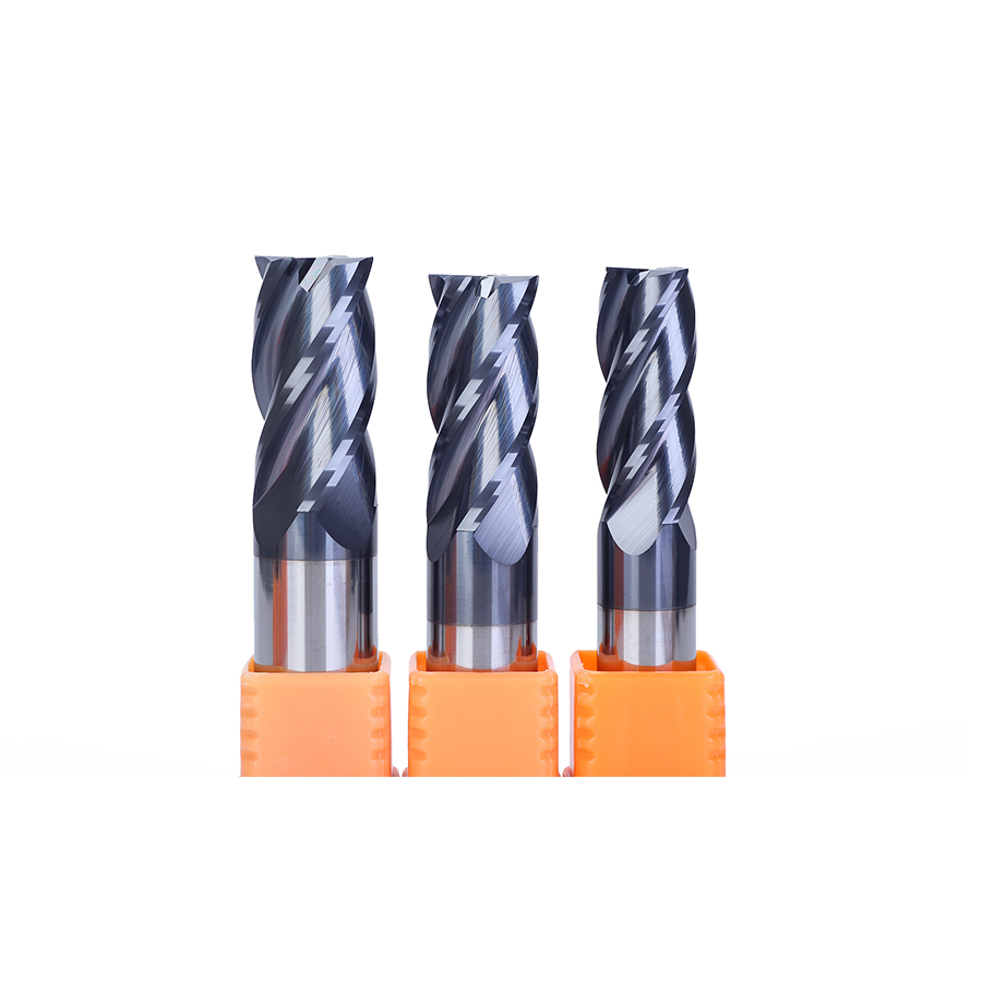 Weix 4 Flutes HRC45 Milling Cutter Carbide End Mill CNC Router Bits For Steel