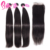 Buy 100 Virgin Brazilian Remy Human Hair Extensions With Straight 6x6 Swiss Lace Closure Online Cheap