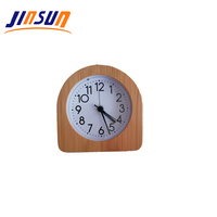 JINSUN Arch Shape Function Mini Clock Wood Insert In Classic Table Clock Alarm Clock For Hotels