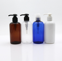 wholesale cosmetic packaging lotion pump high quality empty plastic pet shampoo 300ml amber bottle
