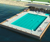 Floating pontoon water football sport stadium platform