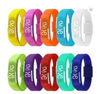 2019 Silicone LED Light Digital Sport Wrist Watch Kid Women Girl Men Boy Led Touch Silicone Watch