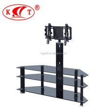 Hot Sale Living Room <strong>Furniture</strong> with Clip Classic Design Black Glass TV Stand