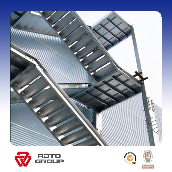 galvanized outdoor steel staircase/metal stair