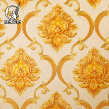 European style damask 3D wallpaper for interior <strong>design</strong>