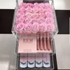 Clear Acrylic Storage 25 Flowers Preserved Rose Box With drawer