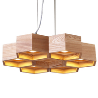 Home indoor lighting bent wood contemporary pendants lighting modern wooden chandelier