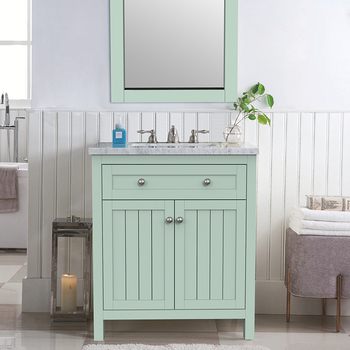30 inch green color bathroom vanity with economic doors