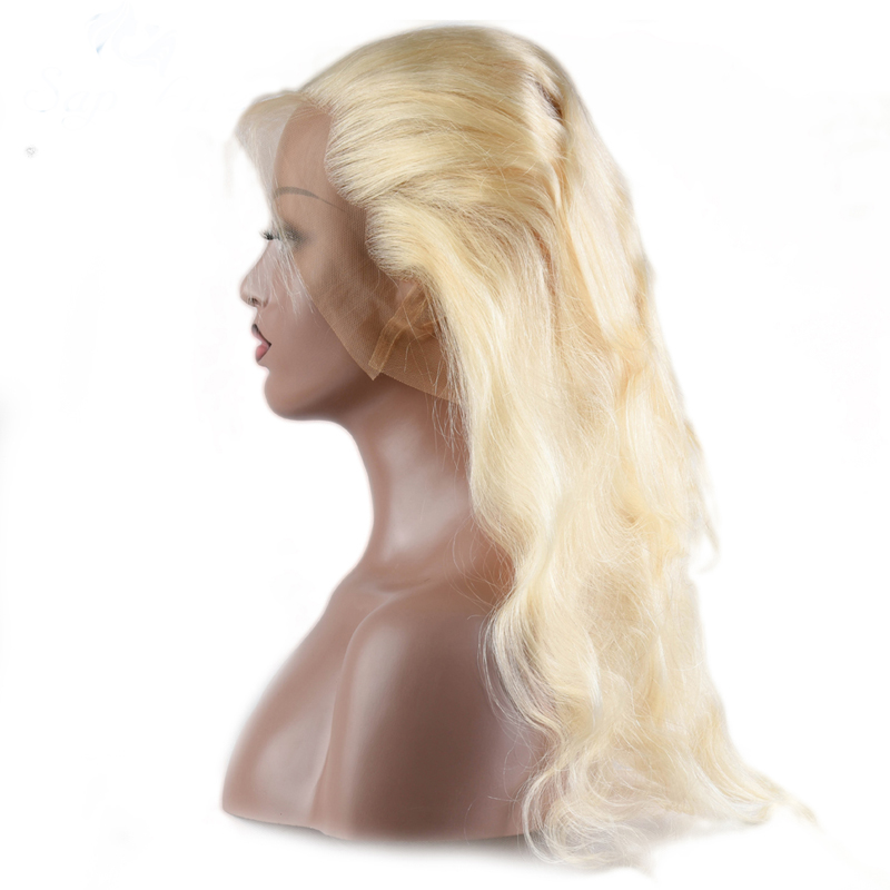 High quality brazilian hair 613 lace front wig <strong>human</strong> hair1b 613 <strong>human</strong> wig, blonde virgin hair wig