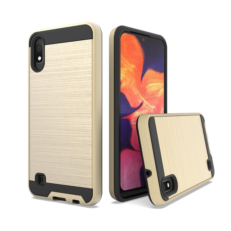 New Arrivals 2019 Amazon Brushed Hybrid Armor Shockproof TPU PC 2 in 1 Mobile Case For Samsung Galaxy <strong>A10</strong>