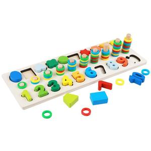 Best Selling In European Children Montessori Materials Early Education Math Natural Wood Baby Toys