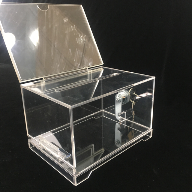 Acrylic Donation Box with Sign Holder Amazon Hot Sales Acrylic Voting Box