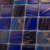 China foshan classic mixed blue and purple square mosaic glass tile