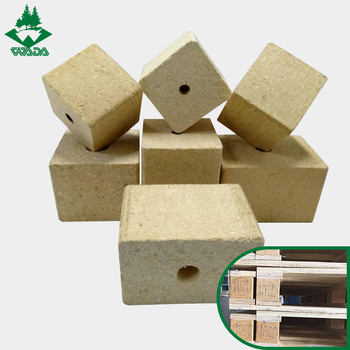 China manufacturer cheap price wood chip block pallet foot wholesale