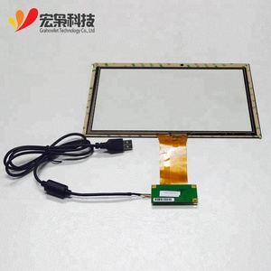 custom size 10.1 inch Projected capacitive touch screen the touch panel