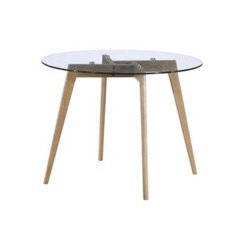 Modern tempered glass dining table best price high quality round dining table