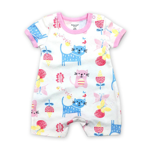 Men and women baby Siamese clothes cotton short-sleeved clothes baby romper summer children's clothing girls short-sleeved 2019