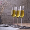 260ml clear high borosilicate champagne flutes glass wine goblet glassware with pink stem