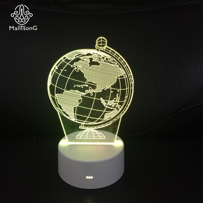 3D LED Night <strong>Light</strong> ABS Base USB Night <strong>Light</strong> 3D Earth Image Table Lamp For Kids