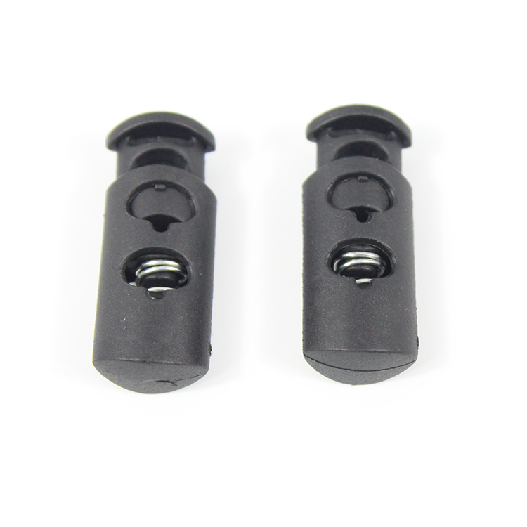 Plastic Cord Lock Stopper Cord End 17mm*8.5mm Black
