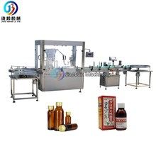 JB-YG4 Automatic 60ml 100ml syrup/medical liquid filling and capping machine