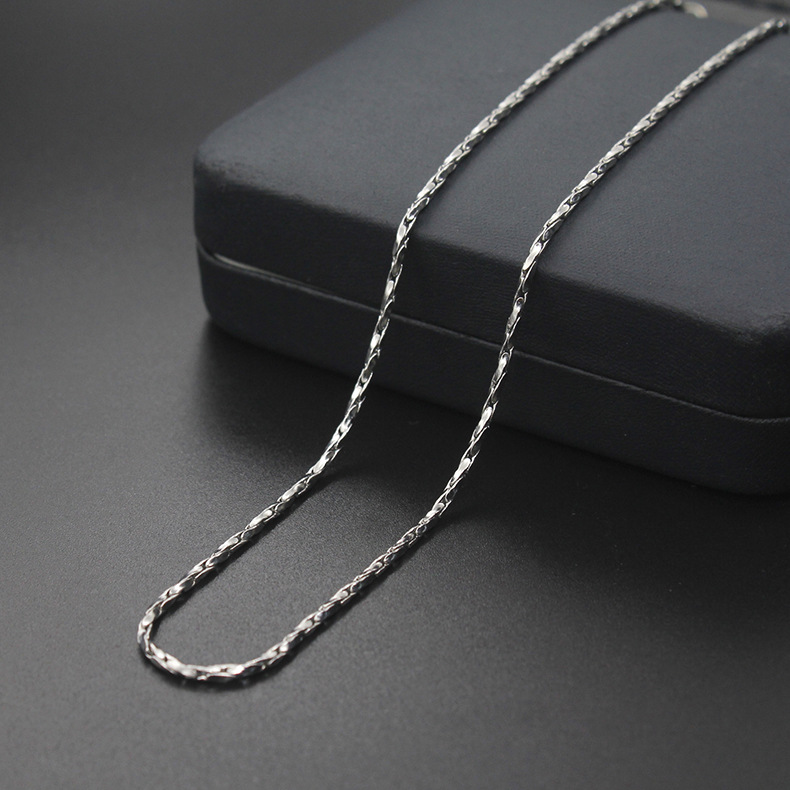 XL013 Stainless Steel Jewelry Fashion Necklace Women Accessories, <strong>1</strong>.8MM Twisted Square Chain Necklaces
