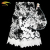 New high quality african soluble organza double beaded party white 3d textile net lace fabric