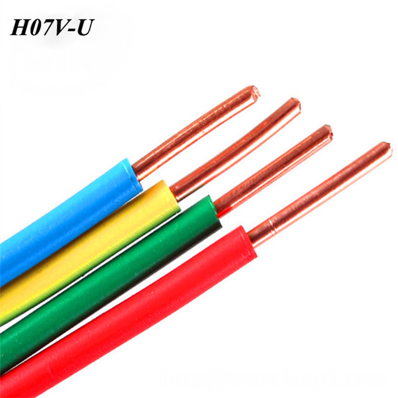 China Factory Hot Sale PVC Insulated Wire Solid Copper BV Electric Cable <strong>H07V</strong>-<strong>U</strong> Cable