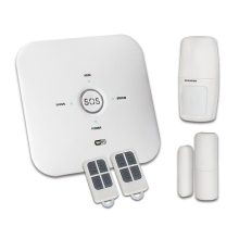 <strong>Remote</strong> controlled Wireless SOS security WIFI &amp; GSM siren alarm system with pir door sensors