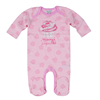 Cheap price pink cupcake baby romper 100% cotton baby grower with button