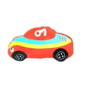 Hot Sell Plush Toy Sofa Decoration Cute Kids Pillow Red Car