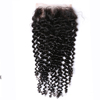 Factory Peruvian Hair Lace Closure Medium Brown Lace Deep Curly 4x4 Closure For Women
