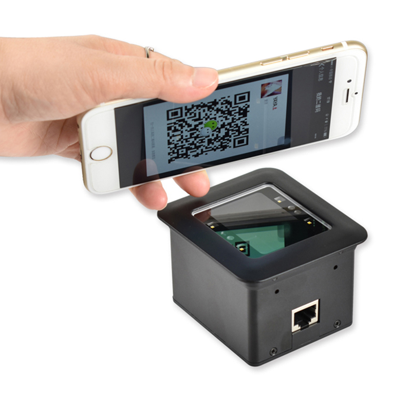 Lager USB-Laser-Barcode-Scanner für 2D QR-Kabel für mobile Zahlung im Shop