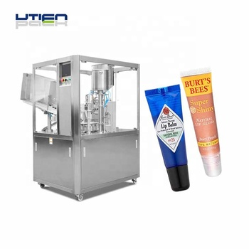 Multiple auto cosmetic tube filler sealer for lip balm packing