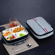 304 stainless steel insulated lunch box with lid for students children dining room compartment bento Lunch box Set